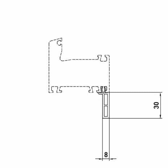 profil de recouvrement finition parfaite pour fen tre pvc. Black Bedroom Furniture Sets. Home Design Ideas