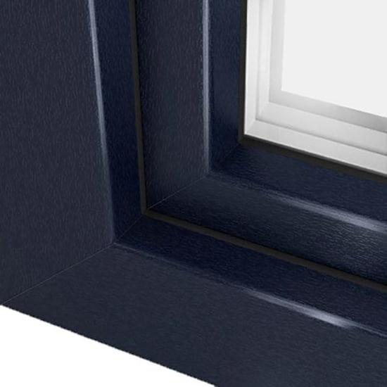 Fen tre pvc bleu acier avec film couleur ultra r sistant - Differente teinte de gris ...