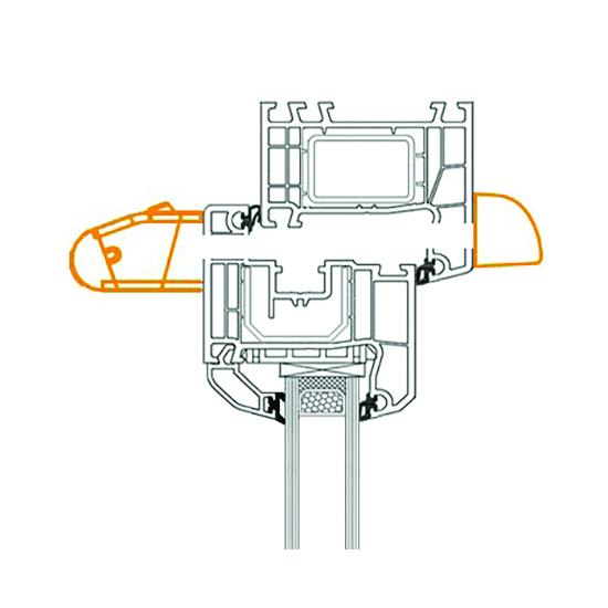 grille de ventilation hygror glable pour a ration fen tre. Black Bedroom Furniture Sets. Home Design Ideas