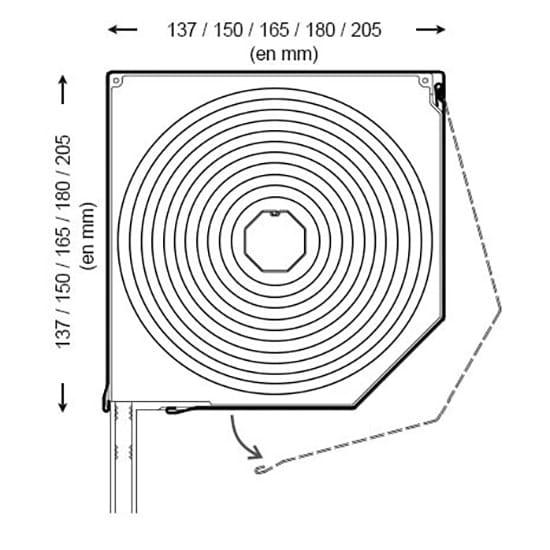 En commun Volet roulant pan coupé : coffre aluminium coupé à 45° &AA_67